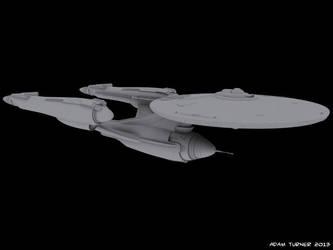 Star Fleet advanced heavy cruiser WIP by Adam-Turner