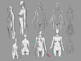 female body lighting by moni158