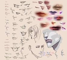 Drawing Lips by moni158