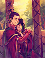 Zuko and Mai by moni158