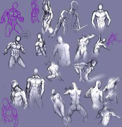 Body sketches by moni158