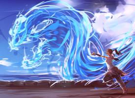 Water Dragon by moni158