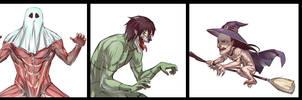 Halloween Titans by moni158