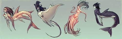 Merpeople by moni158