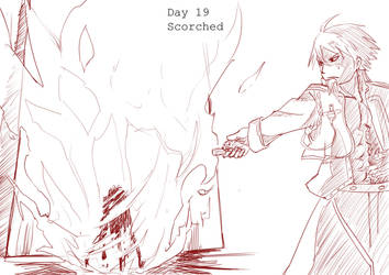 Day 19 Scorched Mustang by BakaDuck