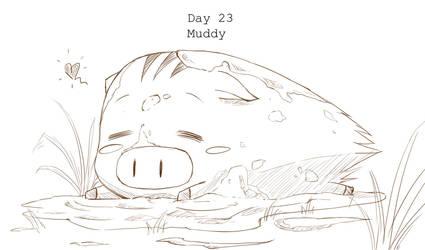 Day 23 Muddy Botan by BakaDuck
