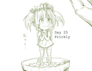 Day 25 Prickly Cactus-chan by BakaDuck