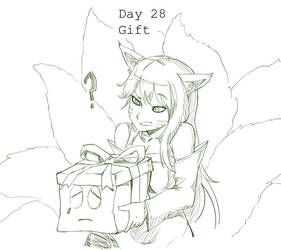 Day 28 Gift Ahri by BakaDuck