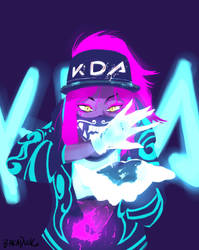 KDA Akali by BakaDuck
