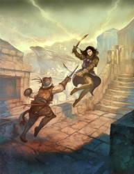 Swashbuckling Duellists by JonHodgson