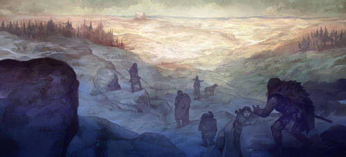 Descending the Misty Mountains by JonHodgson