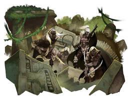 Drow Scouts by JonHodgson