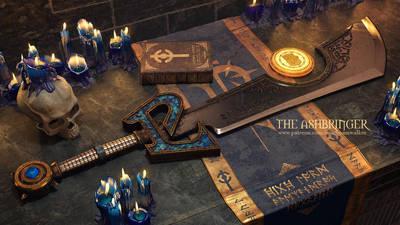 The Ashbringer: Final Art (Blue version) by imaDreamwalker