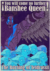 The Burning of Teldrassil Poster I by imaDreamwalker