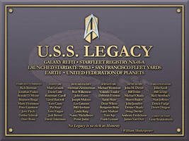 USS Legacy Plaque by LordTrekie