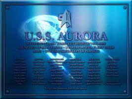 USS Aurora Plaque by LordTrekie