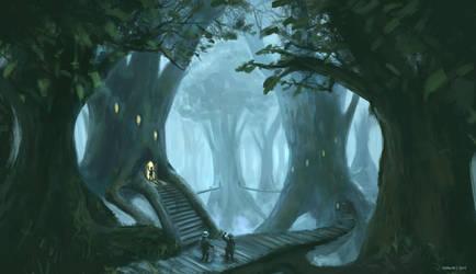 Forest Village by Jstiller30