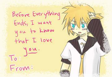 Valentine's Card: Len by iLuffMehh