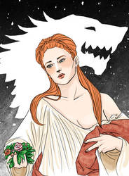 Sansa Stark, Flora by IsabelSparrow