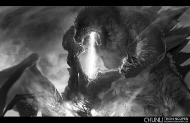 GODZILLA fan art by thiennh2