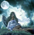 Basking in Moonlight by Elysium-Arts