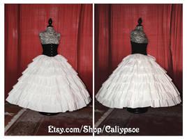 Seven Tiered Ruffle Petticoat 1850's-60's by Caliypsoe