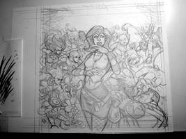 OilCan Drive #2 Cover - Pencil Sketch by OilCanDrive