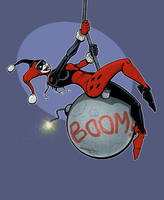 Harley Quinn Wrecking Ball by OilCanDrive