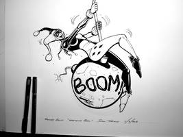 Harley Quinn Wrecking Ball - Progress Photo 4 by OilCanDrive