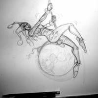 Harley Quinn Wrecking Ball - Progress Photo 1 by OilCanDrive