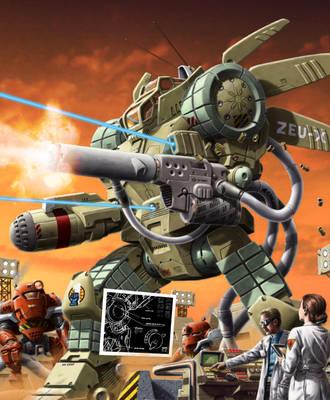 Battletech - Maximum Tech Cover, 1997 by SteamPoweredMikeJ