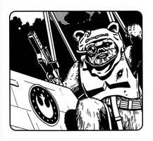 Star Wars - Ewok X-Wing Pilot by SteamPoweredMikeJ
