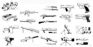 Shadowrun - Fields of Fire Weapons by SteamPoweredMikeJ