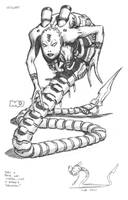Reboot - Snake Woman by SteamPoweredMikeJ