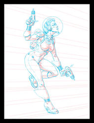 Space Ranger - Pencils by SteamPoweredMikeJ