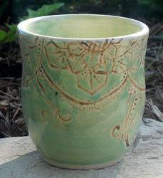 Minty Green Mehndi Inspired Cup by Stormphyre