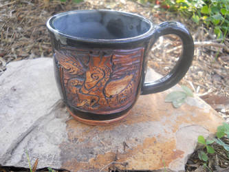 Mug Guardian- Black and Green Dragon 12oz Mug by Stormphyre