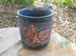 Mug Guardian- Dark Blue Dragon 12oz Mug by Stormphyre