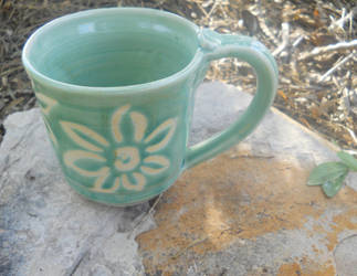 Green Flower 12oz Cup by Stormphyre