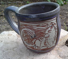 Purple Matte Glazed Gryphon Mug by Stormphyre
