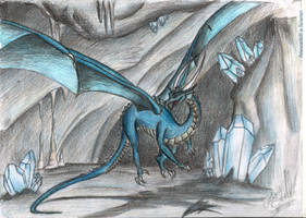 The cavern of the blue dragon by ElenaZambelli