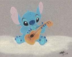 Stitch with Ukelele by DisneyFan-01