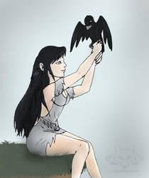 Raven Girl by Cristaleyes