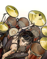 drummer girl by NIW