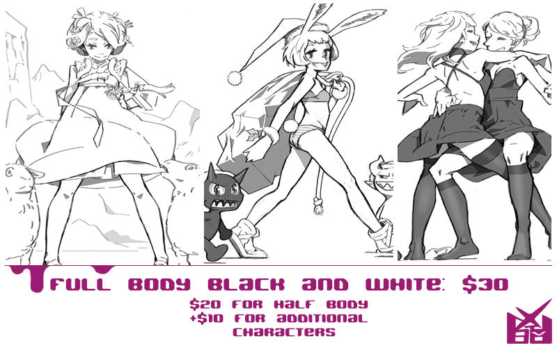 Commission Info Bw by NIW