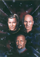Star Trek Captains by DarkAngelDTB