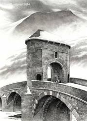 Monnow bridge gatehouse by LeenZuydgeest