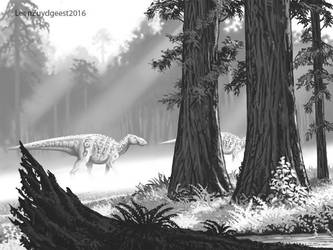 Late Cretaceous morning fog by LeenZuydgeest