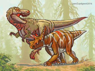 The life of Trix the T.rex. 02 by LeenZuydgeest