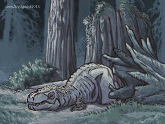The life of Trix the T.rex. 04 by LeenZuydgeest